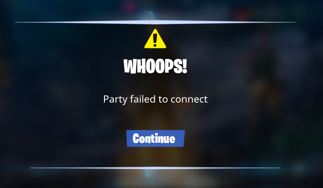 fortnite failed to connect to matchmaking service-0