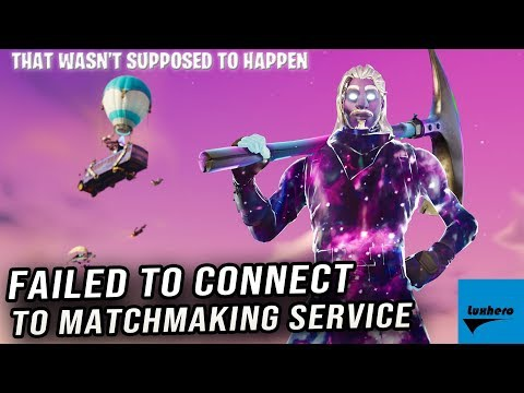 fortnite failed to connect to matchmaking service-5