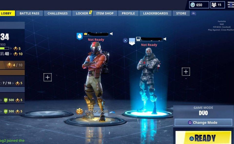 how to play fortnite with xbox and ps4-5