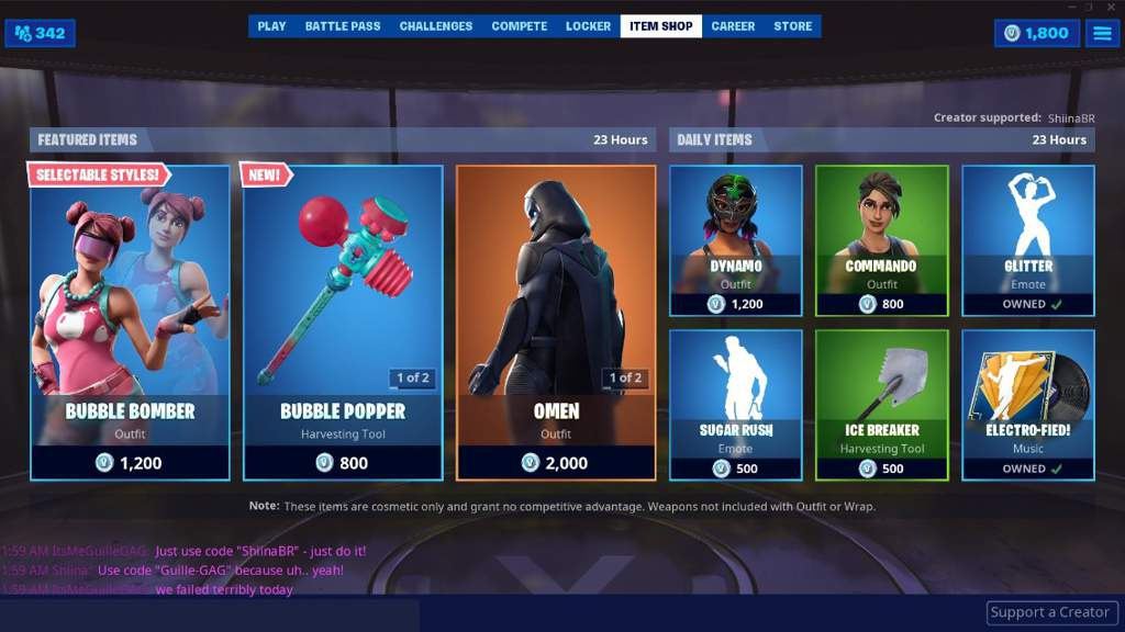 daily item shop fortnite-4
