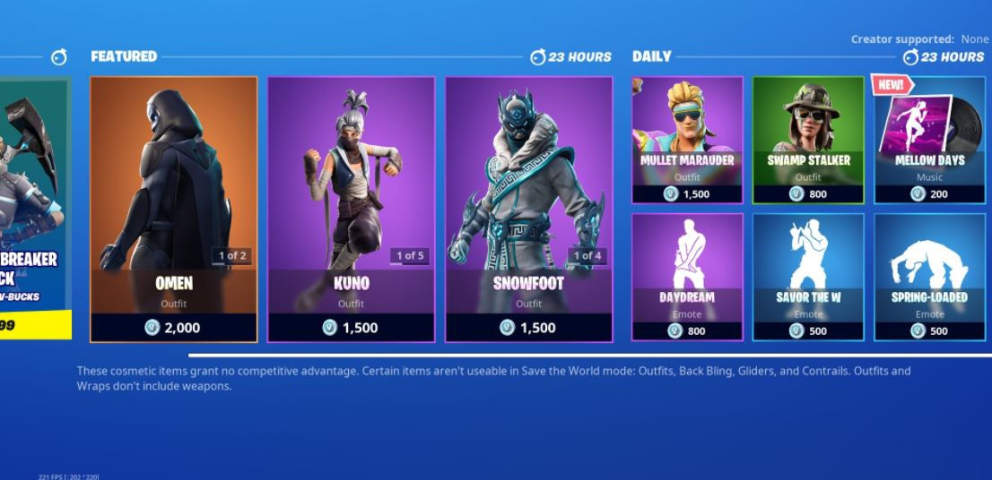 fortnite today's item shop-4