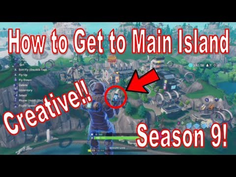 how to get to main island in creative-1
