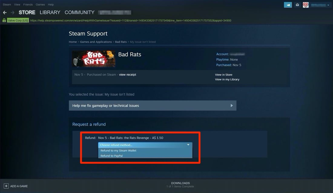 how long do refunds take on steam-1