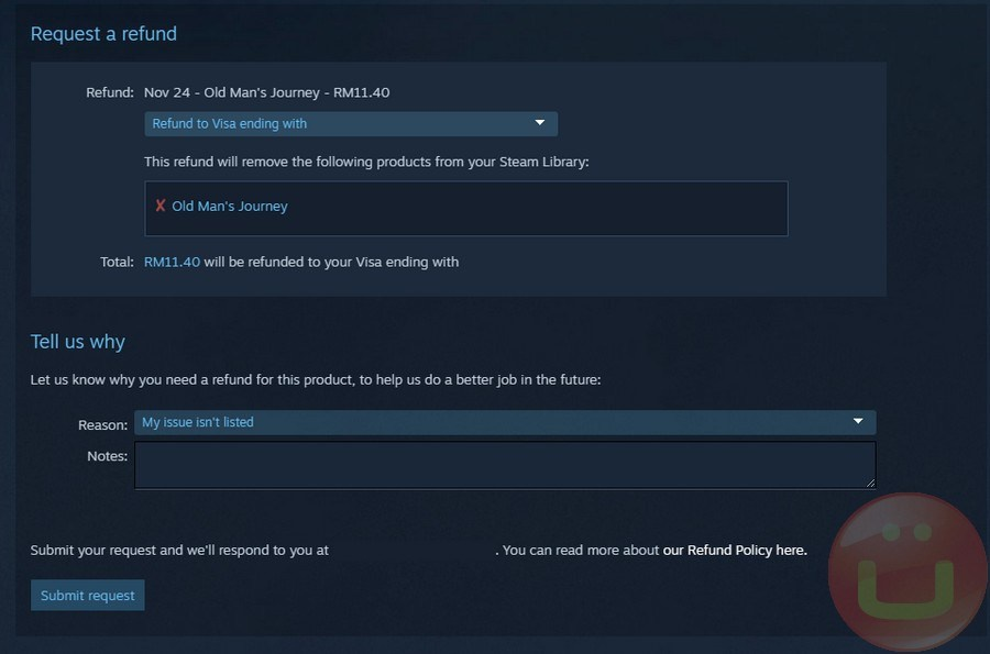 how long do refunds take on steam-3