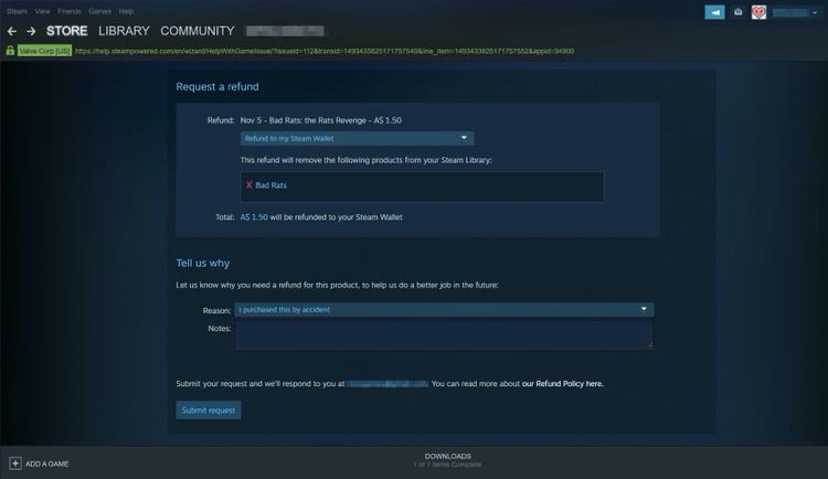 how long do refunds take on steam-5