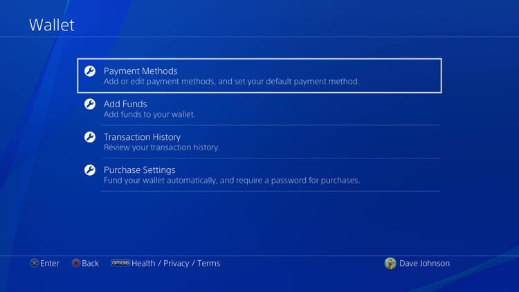 how to change payment method on ps4-4