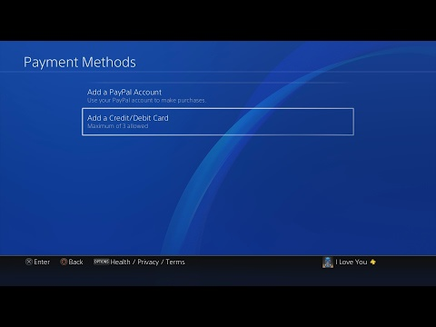 how to change payment method on ps4-5