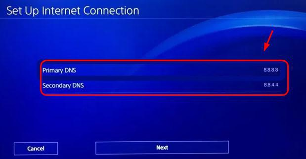 how to change dns on ps4-3