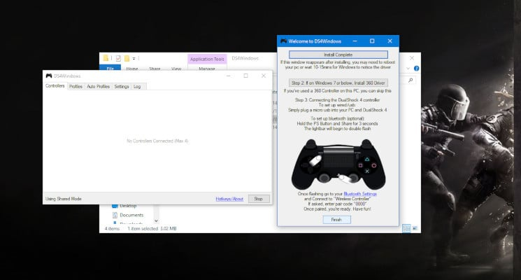 how to connect ps4 controller to pc fortnite-4