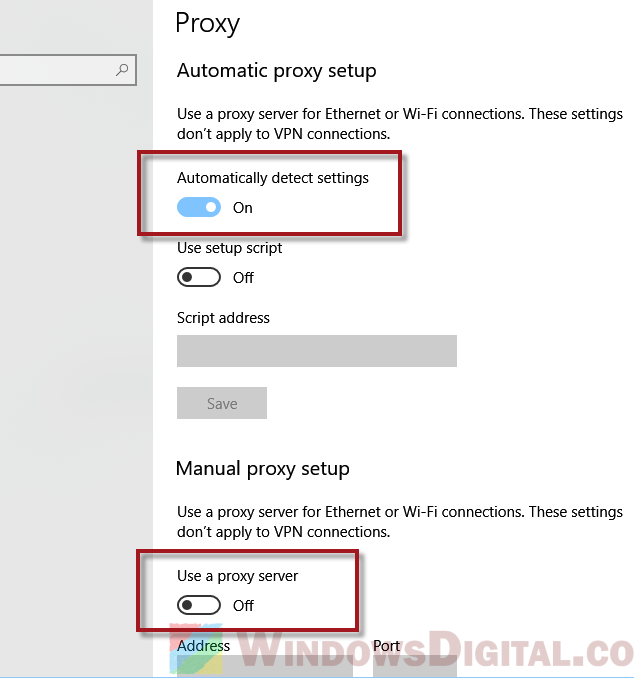 how to disable proxy-1