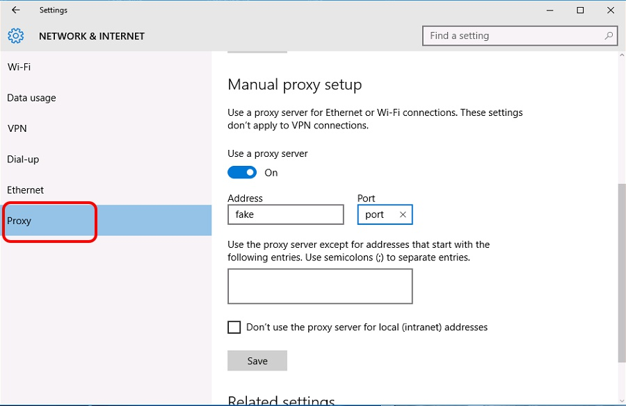 how to disable proxy-7