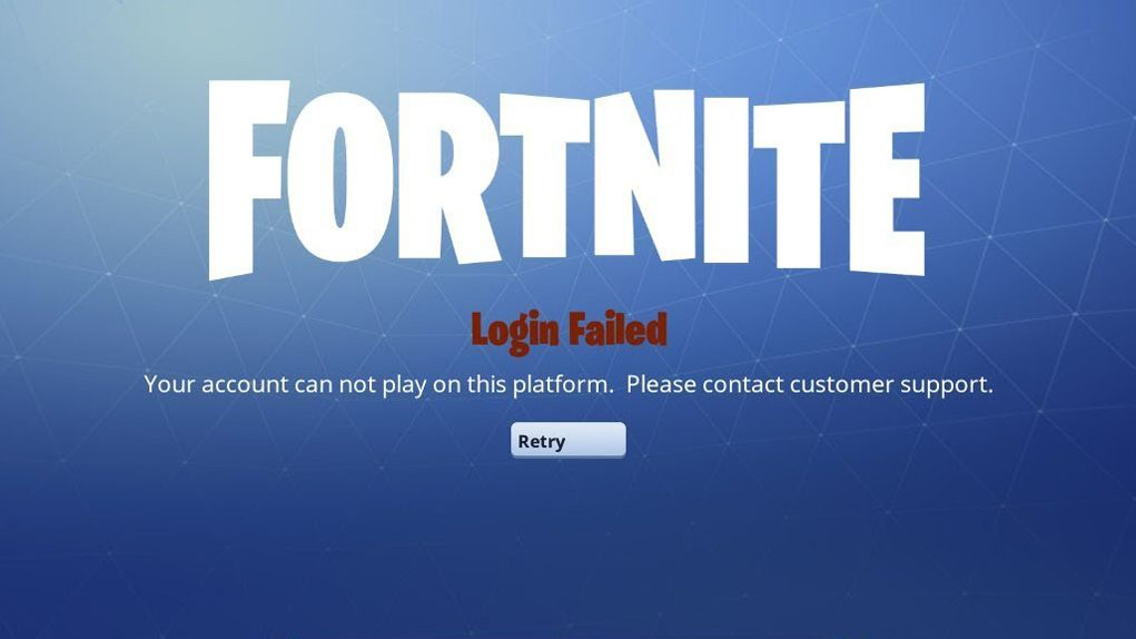 fortnite failed when checking play platform-1