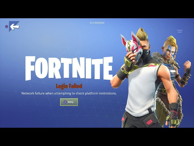 fortnite network failure when attempting to check platform restrictions-2