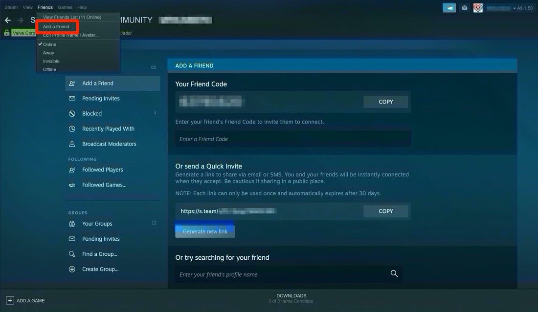 why can't i add friends on steam-7