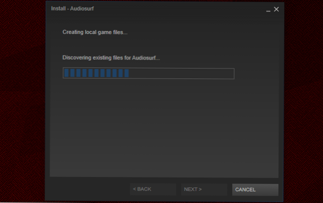 discovering existing files steam-0