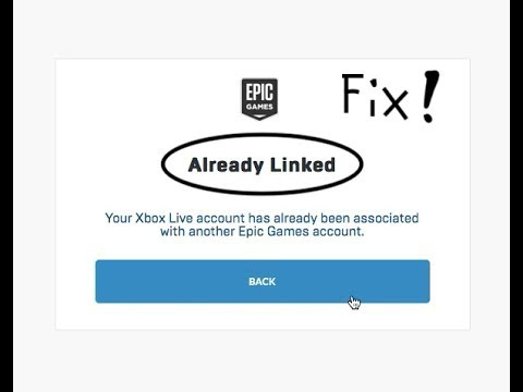 your xbox live account has already been associated with another epic games account.-0