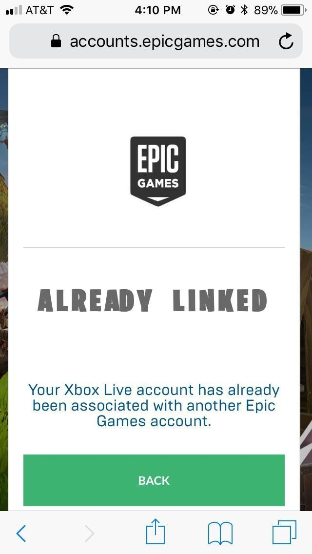 your xbox live account has already been associated with another epic games account.-6