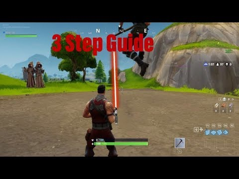 how to get a lightsaber in fortnite-9