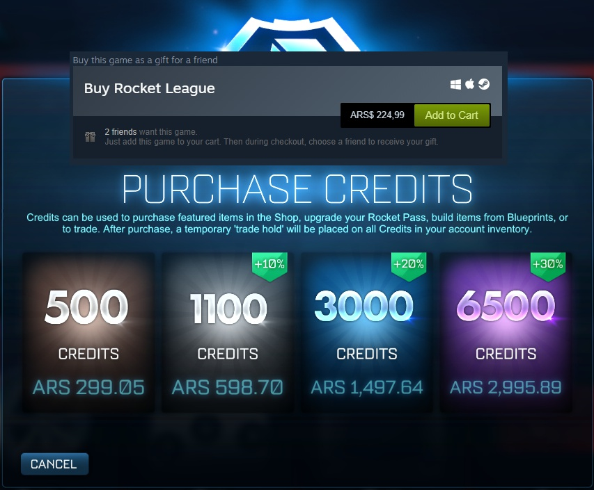 how much does rocket league cost-1