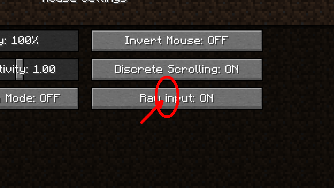 raw mouse input on or off-1