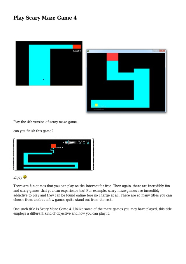 scariest maze game 4-4