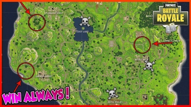 fortnite battle royale loot map-7