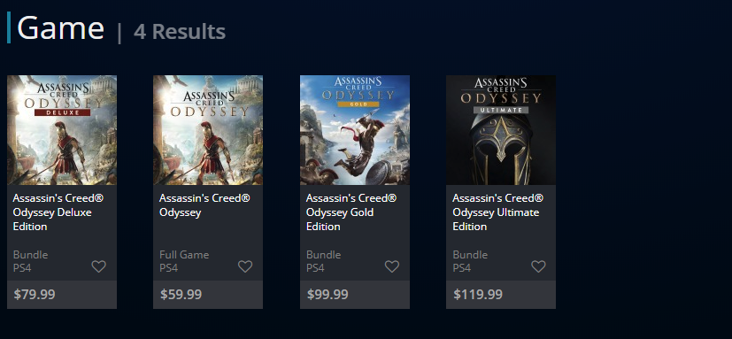 assassin's creed odyssey versions-8