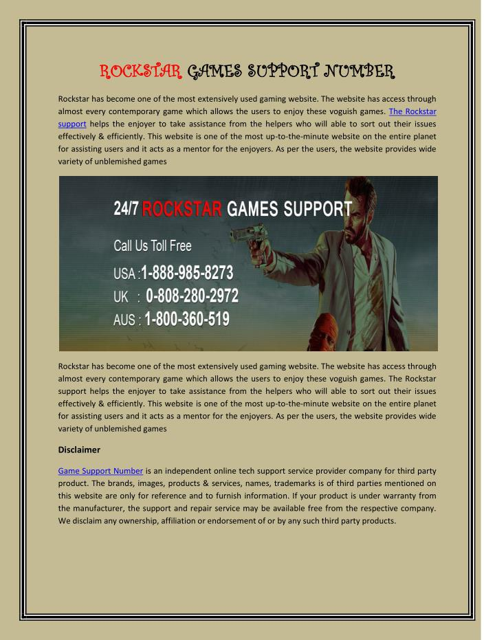 rockstar support number usa-0