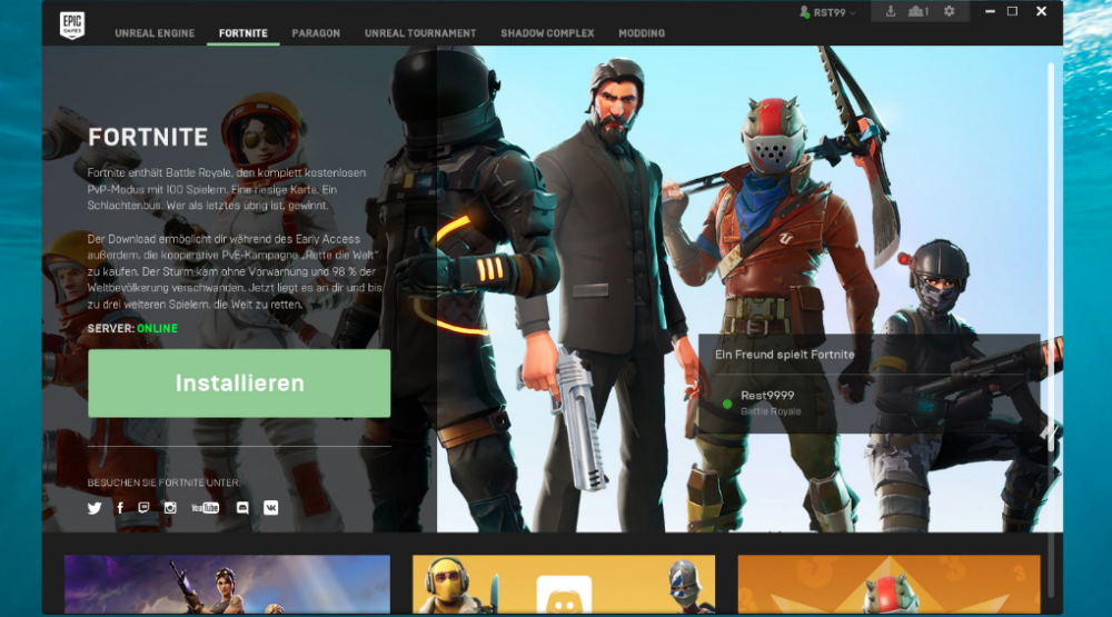 download epic games launcher-3