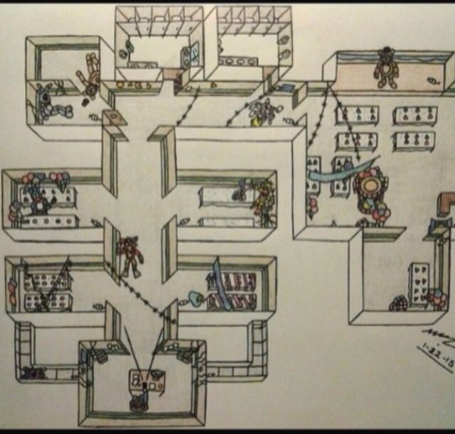 five nights at freddy's map-4