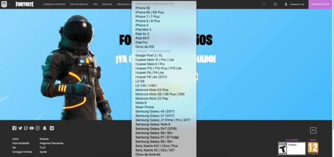 fortnite android compatible devices-1