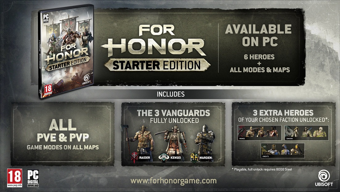 what is for honor starter edition-0