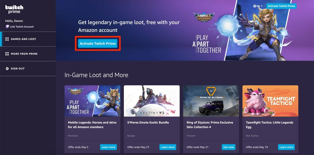 do you get twitch prime with amazon prime-2