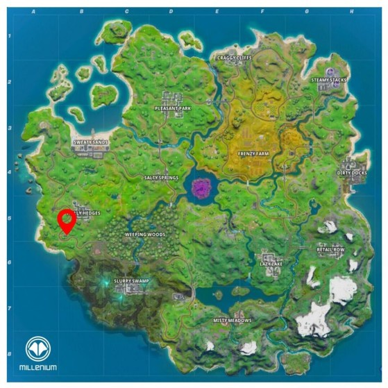 where is the n in fortnite chapter 2-2